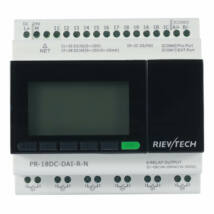 Rievtech PR-18DC-DAI-R-N Ethernet PLC webszerverrel és beépített MQTT-vel (relés kimenet)