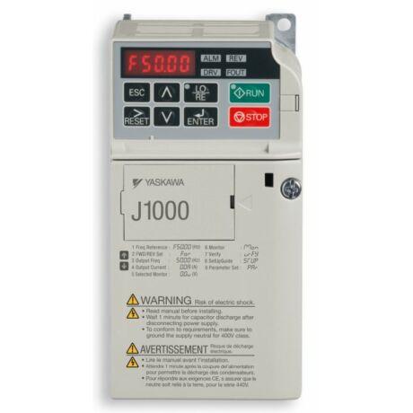 OMRON J1000 JZAB0P2BAA 0,25kW 1 fázisú frekvenciaváltó