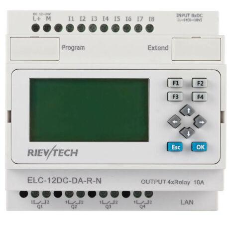Rievtech ELC-12DC-DA-R-N Ethernet PLC