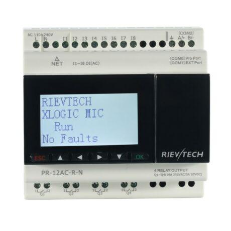 Rievtech PR-12AC-R-N Ethernet PLC webszerverrel és beépített MQTT-vel