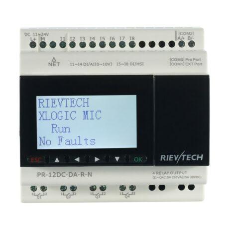 Rievtech PR-12DC-DA-R-N Ethernet PLC webszerverrel és beépített MQTT-vel