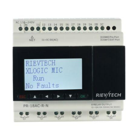 Rievtech PR-18AC-R-N Ethernet PLC webszerverrel és beépített MQTT-vel