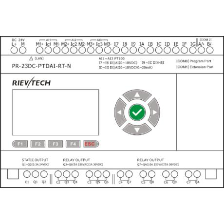 Rievtech PR-23DC-PTDAI-RT-N Ethernet PLC PT100 bemenetekkel