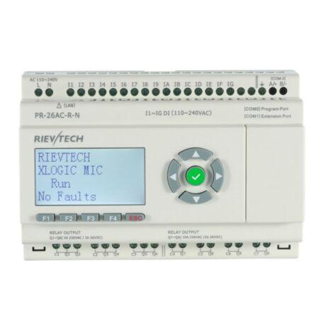 Rievtech PR-26AC-R-N Ethernet PLC webszerverrel és beépített MQTT-vel