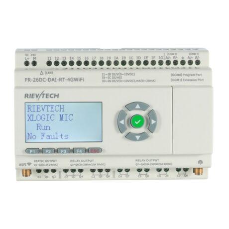 Rievtech PR-26DC-DAI-RT-4GWIFI 4G WIFI PLC webszerverrel és beépített MQTT-vel