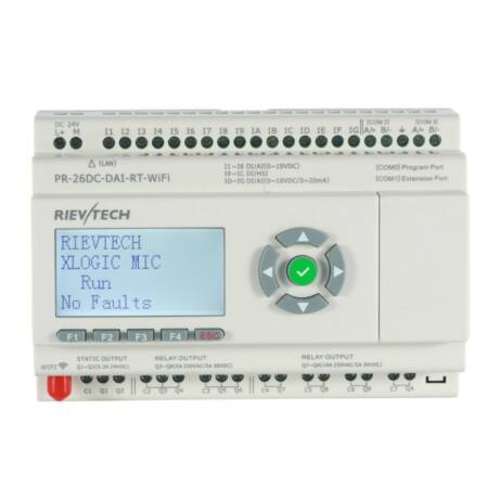 Rievtech PR-26DC-DAI-RT-WIFI WIFI PLC webszerverrel és beépített MQTT-vel