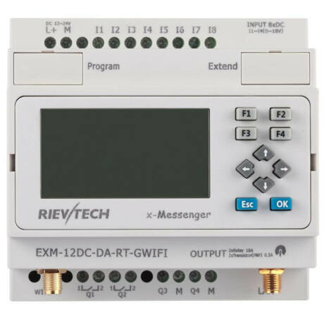 Rievtech EXM-12DC-DA-RT-GWIFI-HMI Wifi PLC